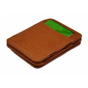 HUNTERSON έξυπνο πορτοφόλι HU-MW-CP1-RFID, κερματοθήκη, δερμάτινο, καφέ HU-MW-CP1-RFID