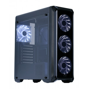 ZALMAN PC case ie Edge, mid tower, 445x196x456mm, 4x fan, διάφανο πλαϊνό I3EDGE