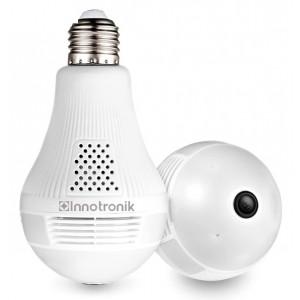 INNOTRONIC λάμπα με ενσωματωμένη κάμερα ICS-R5H, 1080p, Wi-Fi, λευκή ICS-R5H