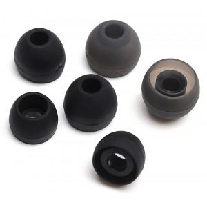 Universal Ανταλλακτικα ακουστικων σιλικονης, 3 Μεγεθη, Black INEAR-6-BK