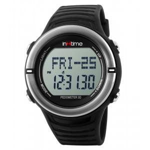 INTIME Ρολόι χειρός Hard-01, Pedometer, Παλμοί καρδιάς, Θερμίδες, ασημί IT-004