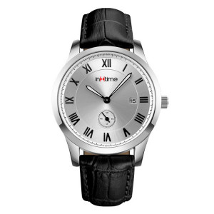 INTIME Ρολόι χειρός Casual-01, Quartz, Stainless Steel, ασημί IT-010