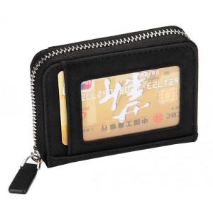 INTIME πορτοφόλι πιστωτικών καρτών IT-017, RFID, PU leather, μαύρο IT-017
