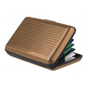 INTIME πορτοφόλι προστασίας ανάγνωσης πιστωτικών καρτών IT-019, καφέ IT-019