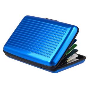 INTIME πορτοφόλι προστασίας ανάγνωσης πιστωτικών καρτών IT-020, μπλε IT-020