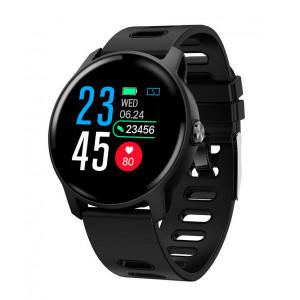 ΙΝΤΙΜΕ Smartwatch S08, 1.3 έγχρωμο, IP68, HR & Blood pressure, μαύρο IT-021