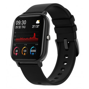 ΙΝΤΙΜΕ Smartwatch P8, 1.4 έγχρωμο, IPX7, HR & Blood pressure, μαύρο IT-031