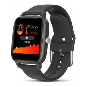 ΙΝΤΙΜΕ Smartwatch T98, 1.4 έγχρωμο, IP67, μέτρηση θερμοκρασίας, μαύρο IT-034