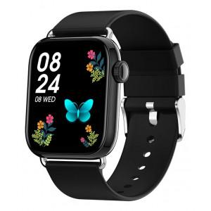 ΙΝΤΙΜΕ smartwatch P16, 1.69 έγχρωμο, IP67, HR & Blood pressure, μαύρο IT-038