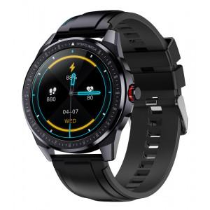 ΙΝΤΙΜΕ smartwatch SN88, 1.28 έγχρωμο, IP68, HR & Blood pressure, μαύρο IT-044