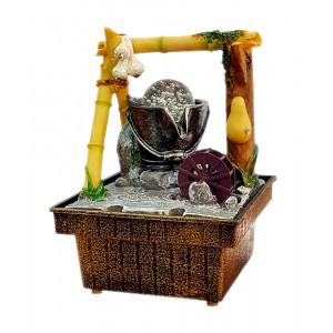 Συντριβάνι Feng Shui JK-180-014 Watermill, 18 x 12 x 12cm JK-180-014