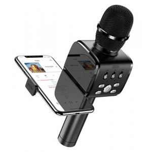 JOYROOM ασύρματο μικρόφωνο με βάση για smartphone JR-MC3, μαύρο JR-MC3-BK