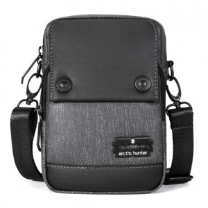 ARCTIC HUNTER τσάντα ώμου & ζώνης K00087-BK, μαύρη K00087-BK