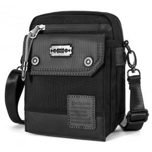 ARCTIC HUNTER τσάντα ώμου & ζώνης K00091-BK, αδιάβροχη, μαύρη K00091-BK