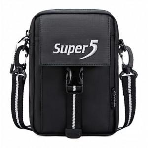 SUPER FIVE τσάντα ώμου K00104-BK, μαύρη K00104-BK