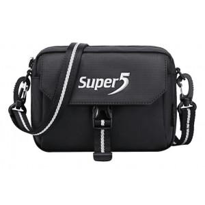 SUPER FIVE τσάντα ώμου K00106-BK, μαύρη K00106-BK