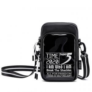 SUPER FIVE τσάντα ώμου K00110-BK, μαύρη K00110-BK