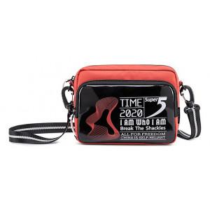 SUPER FIVE τσάντα ώμου K00111-OR, κόκκινη K00111-OR