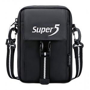 SUPER FIVE τσάντα ώμου K00122-BK, μαύρη K00122-BK