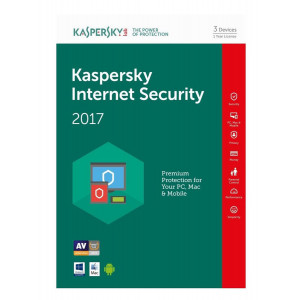 KASPERSKY Internet Security 2017, 3 Άδειες, 1 έτος, English KIS3117