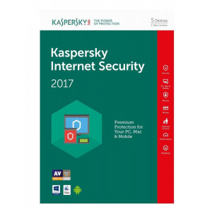 KASPERSKY Internet Security 2017, 5 Άδειες, 1 έτος, English KIS5117