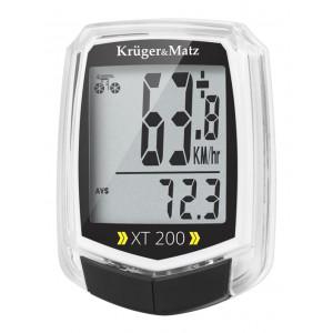 KRUGER&MATZ ηλεκτρονικό ταχύμετρο XT 200 KM0075, 2 users, αδιάβροχο KM0075