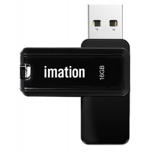 IMATION USB Flash Drive Nano II KR03020001, 16GB, USB 2.0, μαύρο KR03020001