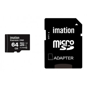 IMATION κάρτα μνήμης MicroSDHC UHS-1, 64GB, Read 45MB/s, Class 10 KR05020008U1