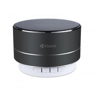 KISONLI Φορητό ηχείο LED-804, BΤ/SD/Aux in/USB/FM, LED, Handsfree, μαύρο KSN-LED-804-BK