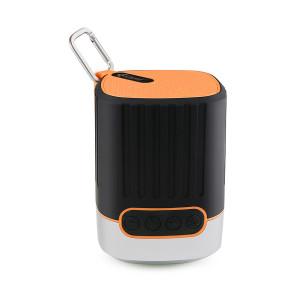 KISONLI Φορητό ηχείο Q1, Bluetooth, LED, 2000mAh, με γάντζο, πορτοκαλί KSN-Q1-OR