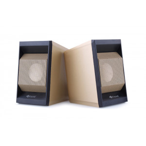 KISONLI Multimedia ηχεία Τ-006, 2.0ch, 2x 3W,  USB/Jack 3.5mm, χρυσά KSN-T-006-GD