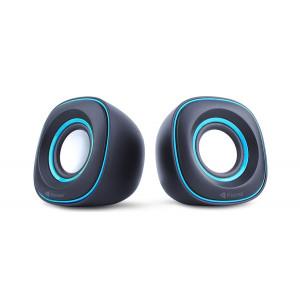 KISONLI Multimedia Ηχεία V350, 2.0ch, 2x 3W, USB, μπλε KSN-V350-BL