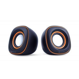KISONLI Multimedia Ηχεία V350, 2.0ch, 2x 3W, USB, πορτοκαλί KSN-V350-OR