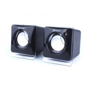 KISONLI Multimedia Ηχεία V410, 2.0 ch, 2x 3W, USB, μαύρα KSN-V410