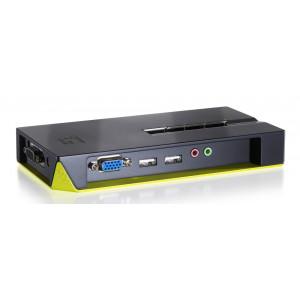LEVELONE KVM switch KVM-0421, 4-port, USB, με υποστήριξη ήχου, Ver. 1 KVM-0421