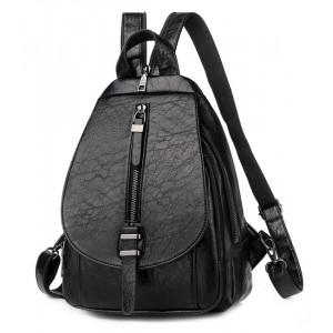 Γυναικεία τσάντα πλάτης LBAG-0002, μαύρη LBAG-0002