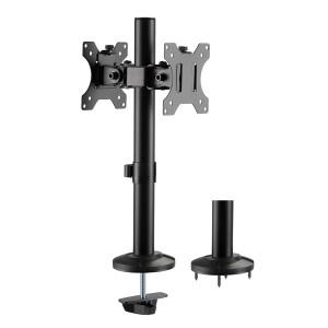 BRATECK Βάση γραφείου LDT40-G02 για 2 οθόνες 17 - 32, 8kg LDT40-G02