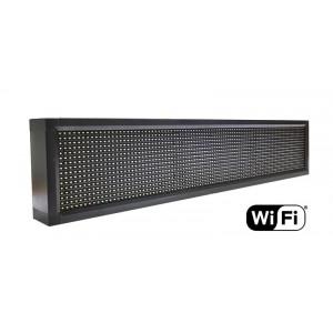 Ηλεκτρονικη πινακιδα κυλιομενων μηνυματων, WiFi, 103x23cm, λευκο LPL-103W