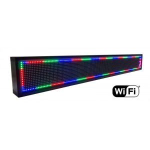 Ηλεκτρονικη πινακιδα κυλιομενων μηνυματων, WiFi, 165x23cm, RGB LED LPL-105F