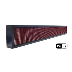 Ηλεκτρονικη πινακιδα κυλιομενων μηνυματων, WiFi, 165x23cm, κοκκινο LPL-105R