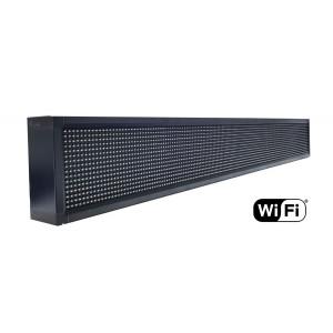 Ηλεκτρονικη πινακιδα κυλιομενων μηνυματων, WiFi, 165x23cm, λευκο LPL-105W
