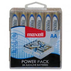 MAXELL Αλκαλικές μπαταρίες AA (LR6), 24TEM, Plastic LR6-24MPP