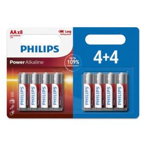 PHILIPS Power αλκαλικές μπαταρίες LR6P8BP/10, AA LR6 1.5V, 8τμχ LR6P8BP-10