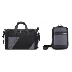 ARCTIC HUNTER Τσάντα ταξιδίου LX00010-BK, υβριδική, μαύρη-γκρι LX00010-BK