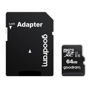 GOODRAM κάρτα μνήμης M1AA microSDΧC UHS-1, 64GB, Class 10 M1AA-0640R12