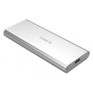 ORICO θήκη για Μ.2 B key SSD M2G-C3, USB 3.1, 5Gbps, 2TB, ασημί M2G-C3-SV-PRO