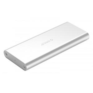 ORICO θήκη για Μ.2 B key SSD M2G-U3, USB 3.0, 5Gbps, 2TB, ασημί M2G-U3-SV-BP