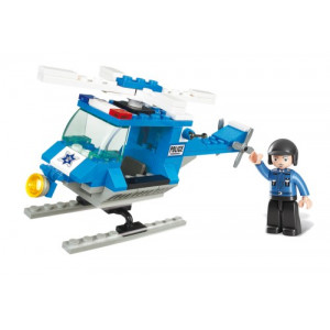 SLUBAN Τουβλακια Town, Police Helicopter M38-B0175, 85τμχ M38-B0175
