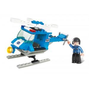 SLUBAN Τουβλακια Town, Police Helicopter M38-B0175, 85τμχ M38-B0175