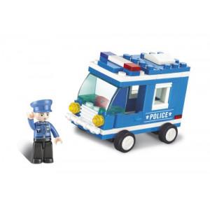 SLUBAN Τουβλακια Town, Police Van M38-B0177, 64τμχ M38-B0177
